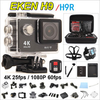 Wholesale Original EKEN H9 H9R remote Action camera Ultra HD K WiFi P fps LCD Helmet Cam go waterproof pro camera