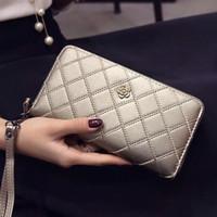 bags purse unique - womens wallets new hand bag purse winter sweet lady Lingge porte monnaie femme long bag purse leisure designer Unique