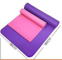 Wholesale 10mm Thick healthy exercise yoga mat Non Slip Lose Weight folding gymnastics mat for fitness suitable male and female