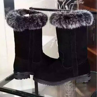 australia luxury boots - womens winter Boots LUXURY Rabbit Fur BOOTS FASHION BRAND DESIGNER WINTER BOOTS australia GENUINE LEATHER ankle boot Grey Size41