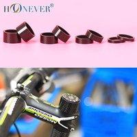 Wholesale 4pcs Carbon Fiber Washer Bike Stem Spacers k Carbon Bicycle Headset Washer mm mm mm mm