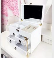 Wholesale FM0052 Small Wooden Drawer Jewelry Organizer Box Birthday Gift Princess Jewelry Box