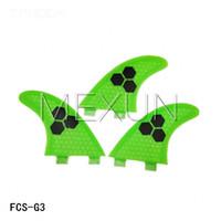 Wholesale green surfboard fins fcs half carbon surf fcsG3 fins S size