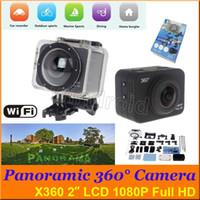 Panoramique X360 Sports Action Caméra 2 pouces LCD 360 ° 170 ° VR Caméra WiFi Caméra 1080P Full HD Mini Caméscope 60m étanche 12MP DHL