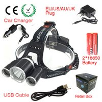 Wholesale Headlamp C XML T6 Lumens Mode LED Headlight Led USB Power bank Rechargeable Hunting Lamp Head Light Charger