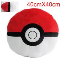 Wholesale Pocket Monster pillow Poke Ball plush cushion Pocket Monster pillow cushion Poke mon Ball Plush Lucario Doll Toys cm