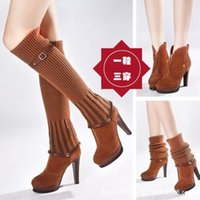 Wholesale Fashion Matte Leather Stiletto Boot America England Style Martin Boots Knee Boots Jackboot Colors Worn