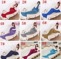 Wholesale Mermaid blanket knit Mermaid tail blanket children winter blanket Mermaid sleeping bag colors christmas gifts