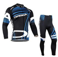 Wholesale ORBEA Spring Autumn Men s Sportswear Long Sleeve Cycling Jersey Breathable D Padded Bicycle Wear Clothing Cycling Sets