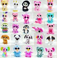 al por mayor ty ojos grandes de felpa-Ty Beanie Boos peluche juguetes de peluche al por mayor grande ojos de los animales muñecas suaves para los regalos del cumpleaños de los niños