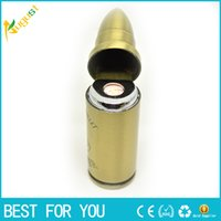 Wholesale Electronic Cigarette Lighter Rechargeable USB Lighters Flameless Windproof lighter Bullet shape lighter usb lighter torch jet lighter