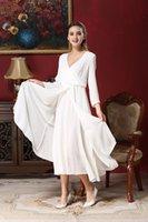 art puff - Spring summer cotton long sleeve retro art van split big pendulum height skirt dress women s clothing