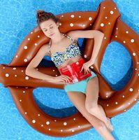 Piscina brinquedos pão anel piscina inflável flutuar Donut Piscina flutuadores piscina inflável brinquedos 150 * 140 centímetros D405 1