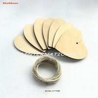 Wholesale MM Unfinished Rustic Wooden Wedding Decoration Cutouts Heart Crafts Tags Bulk supplies quot CT1100