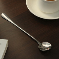 Wholesale NEW High Quality Ice Cream Tea Coffee Handled Long Handle Stainless Steel Spoons Flatware
