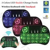Wholesale Rii i8 Backlit Air Mouse Mini Wireless Keyboard Touchpad Backlight Remote Control for Android TV Box S912 X96 T95 Xbox PS3 Gamepad PC