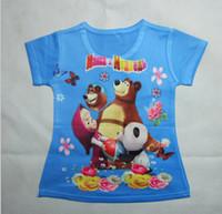 bear tee shirts - New To Years Masha And Bear Child Baby Girls T Shirt Cartoon Summer Children Kids Tops Tees Shirts Muchachas Camisa De T