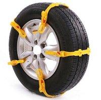 Wholesale 5 x Universal Adjustable Auto Car SUV Snowblower Tire Snow Chains For Mug Ice Road