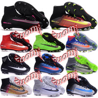 ag soccer shoes - Charlin Original Mercurial Superfly FG Soccer Cleats Superfly V AG High Ankle Football Boots Cleats Mercurial Soccer Shoes Superflys
