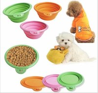 Wholesale 2016 new Manufacturer provides straightly new silicone pet bowl fashion folding portable dog bowl feeder