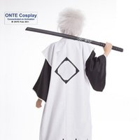 Wholesale Hot Sale Japan Anime Bleach Cosplay Costume st th Division Captain Cos Cloak with Sleeveless Halloween Clothes