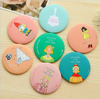Wholesale New Arrivals Cartoon Compact Mirrors Mini Size CM No Cover Cute Designs Makeup Mirrors Put in Bags