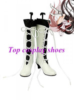 alice boot - Freeshipping anime Pandora Hearts Alice Baskerville White and Black Cosplay Boots shoes GAI0161