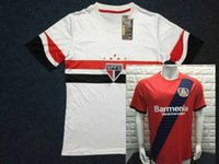 Wholesale Mixed buy NEW Sao Paulo Leverkusen Soccer Jerseys Home white Adult Jerseys Top Thai Quality de foot