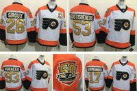 Wholesale Philadelphia Flyers th Anniversary Hockey Jerseys Claude Giroux Voracek Simmonds Shayne Gostisbehere Winter Classic Jerseys