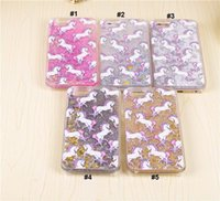 apple london - Bling Glitter kUnicorn Liquid Moving Star Quicksand Skinnydip London Bling Phone Case Back Cover For Iphone S Plus S
