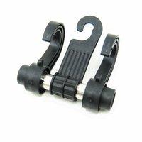 Wholesale Convenient Double Vehicle Hangers Auto Car Seat Organizer Headrest Shop Bag Hook Holder Black Zone Tech Coat Hook Hanger