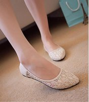 ballet floors - Lace Ballet Flat Shoes Women Flats New Ballet Princess Shoes for Casual Slip On Shoes Ladies Round Toe Comfortable Shoes