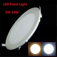 Wholesale LED Panel Light W W W W W W W AC85 V LED Downlight led recessed ceiling light SMD2835 panel lights
