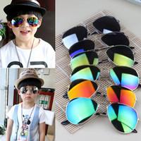 Wholesale Hot Design Children Girls Boys Sunglasses Kids Beach Supplies UV Protective Eyewear Baby Fashion Sunshades Glasses