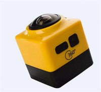 Wholesale CUBE360 Mini Sports Action Camera Degree Panoramic View VR Camera Build in WiFi Video with GVT100M H F2 Len