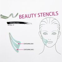 Wholesale 100pcs beauty stencil contouring stencil line and line woman face beauty tool