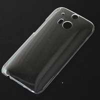 mobile phone crystal hard case - For HTC one M8 Case Ultra Thin Slim Crystal Transparent Back Cover PC Plastic Hard Mobile Phone Cases Clear