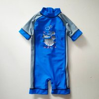 baby surf shorts - 0 M Short sleeve Unitard Swimsuit maillot de bain bebe swimwear baby zwempak Uv Protected Swimwear boy clothes Surf Sunsafe
