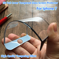 Wholesale Sample Iphone plus D Full Cover Tempered Glass Screen Protector Curved Soft Edge White Black colors High Clear mm YH0033