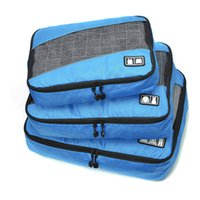 3 In 1 Packing Cube Portable Travel Storage Bags Small Medium Large 3 Sizes  Organization Sets