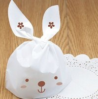 baby bakery - 100 Rabbit White Cookie Biscuit Biscuits Cookies Packaging Bakery Bags Kitchen Baking Plastic bag baby shower favors