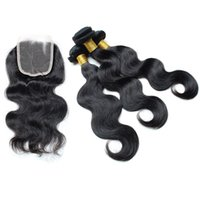 beauty human face - Indian Body Wave with Closure Bundles with Closure Face Beauty Hair with Closure Bundles Human Hair with Closure