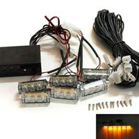amber strobes - Car V Amber LED Flashing Grill Lights Bar Strobes Warning Recovery Breakdown