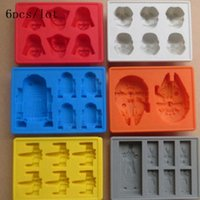 Wholesale AAA pc Star Wars Darth Vader Storm Trooper R2D2 Falcon X Wing Hans Solo Silicone Mold Ice Cube Tray Chocolate Fondant