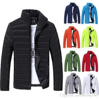 Wholesale HOT Colors New Winter Jacket Men Slim Mens Long Sleeve Parka Famous Brand Mens Jacket Plus Size M XXXL Warm Man Coat