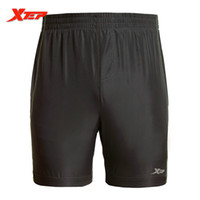 Wholesale XTEP Black Gray Running Shorts Men Sport in Polyester Table Tennis Shorts Cheap Soccer Shorts Marathon Shorts Men