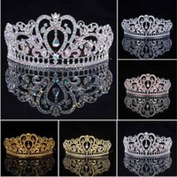 ab crystal tiaras - New Arrival Luxuious AB Color Crystal Bridal Tiaras Fashion Princess Crown Silver Wedding Crowns Hair Accessories