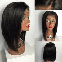 Wholesale Fashion Glueless Full Lace Wigs Short Human Hair Lacefront Wigs Malaysian Wig For Black Women Baby Hair