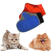Wholesale Mini Pet Cleaning Brush Comb Animal Massage Hair Removal Dog Bath Glove Grooming Color