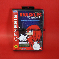 Wholesale game bottom Knuckles The Echidna In Sonic The Hedgehog bit MD Game Card With Retail Box For Sega Megadrive Genesis